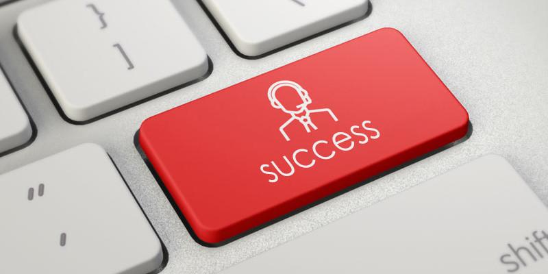 Success Button on keyboard key